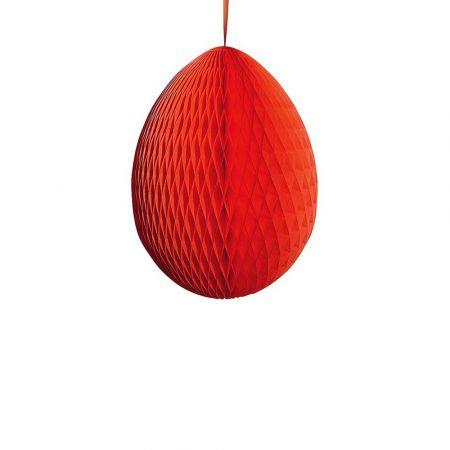 Διακοσμητικό Πασχαλινό αυγό κυψελωτό Κόκκινο 40cm