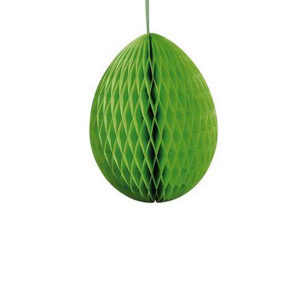 Διακοσμητικό Πασχαλινό αυγό κυψελωτό Πράσινο 40cm