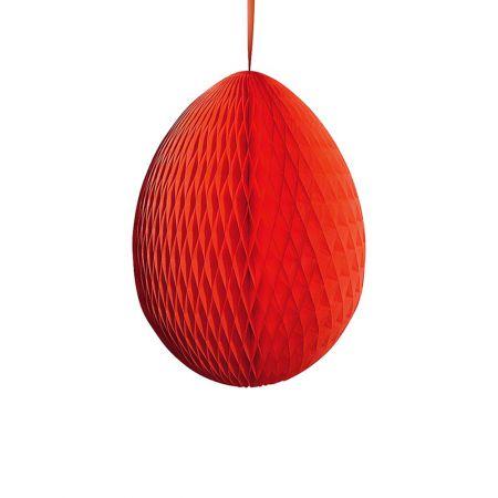 Διακοσμητικό Πασχαλινό αυγό κυψελωτό Κόκκινο 50cm