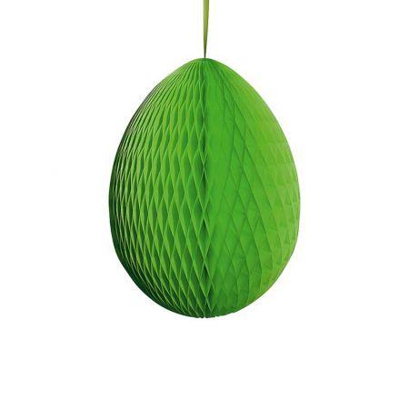 Διακοσμητικό Πασχαλινό αυγό κυψελωτό Πράσινο 50cm
