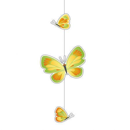 Διακοσμητική γιρλάντα με 3 πεταλούδες 75x28cm