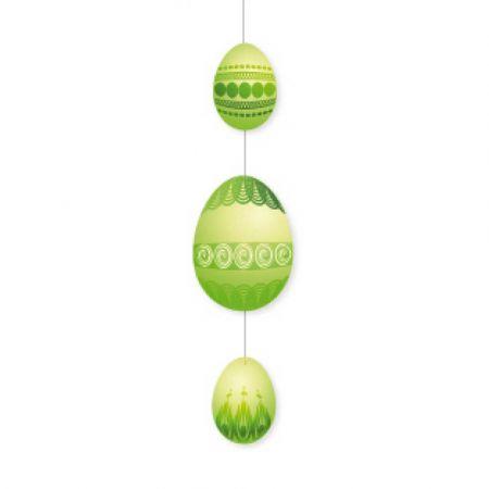 Διακοσμητική γιρλάντα για το Πάσχα με 3 αυγά Πράσινη 75x20cm
