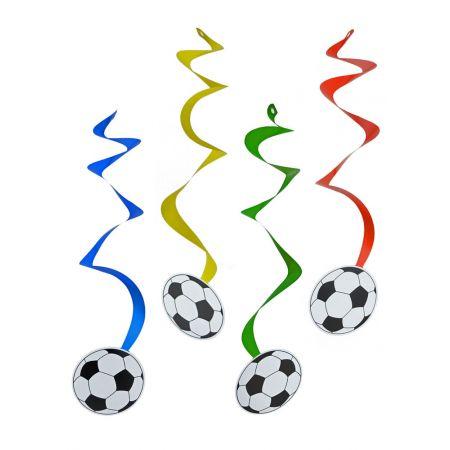 Σετ 4τμχ. Διακοσμητικές γιρλάντες με μπάλες ποδοσφαίρου 55x14cm