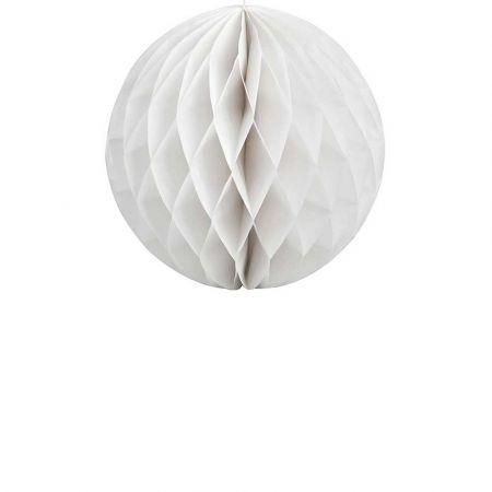 Χάρτινη μπάλα κυψελωτή Λευκή 30cm