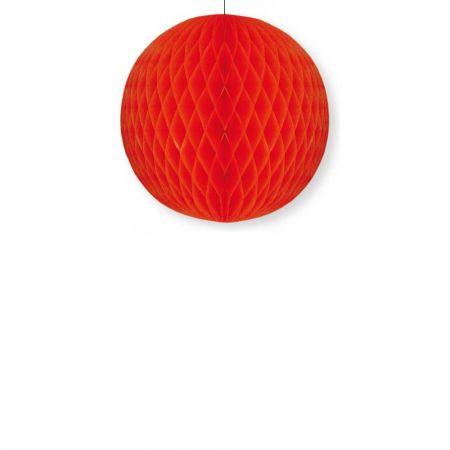Διακοσμητική χάρτινη μπάλα κυψελωτή Κόκκινη 40cm