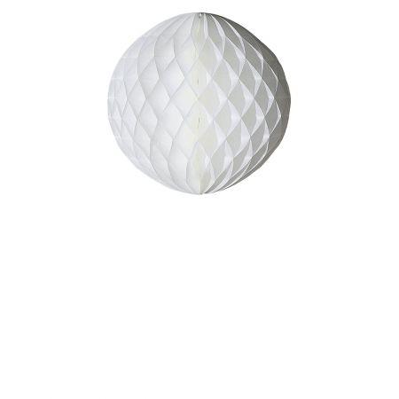 Χάρτινη μπάλα κυψελωτή Λευκή 40cm