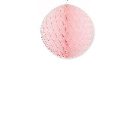 Χάρτινη μπάλα κυψελωτή Ροζ 40cm