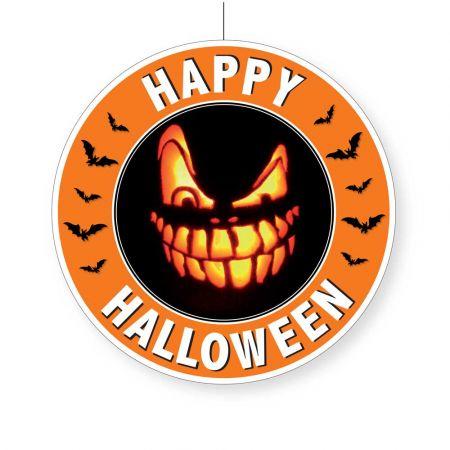 Διακοσμητικό Χάρτινο κρεμαστό Happy Halloween 28cm