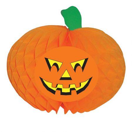 Χάρτινη κυψελωτή κολοκύθα Halloween 50cm