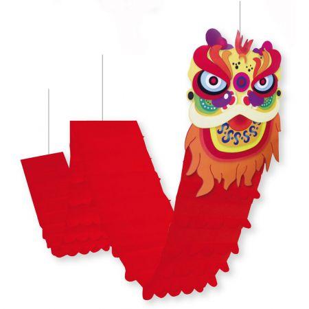 Διακοσμητικός Κινέζικος δράκος χάρτινος Κόκκινος 40x320cm