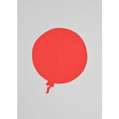 Χάρτινο κρεμαστό μπαλόνι Κόκκινο 25cm