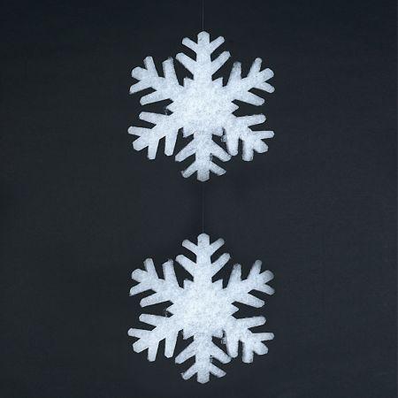 Σετ 2τχ Χιονονιφάδες από βάτα 2cm/41cm
