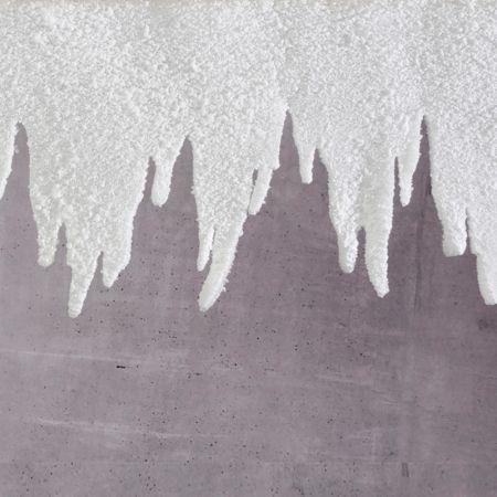Διακοσμητική γιρλάντα - σταλακτίτης χιονισμένη 99x30cm