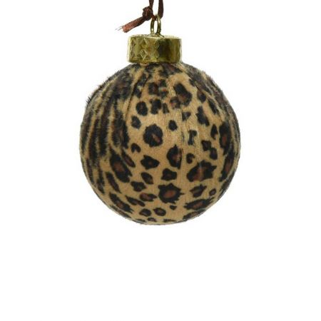 Xριστουγεννιάτικη μπάλα animal print 8cm