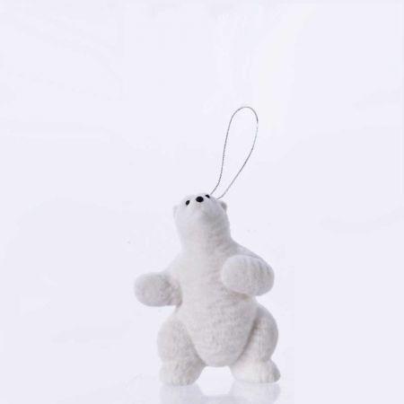 Κρεμαστό στολίδι - Πολική αρκούδα (Σχέδιο 01) 11cm
