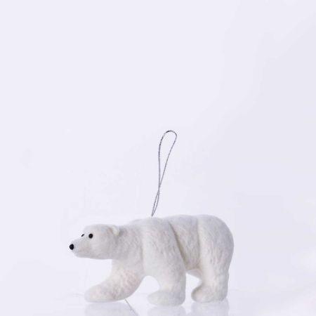 Κρεμαστό στολίδι - Πολική αρκούδα (Σχέδιο 02) 14cm