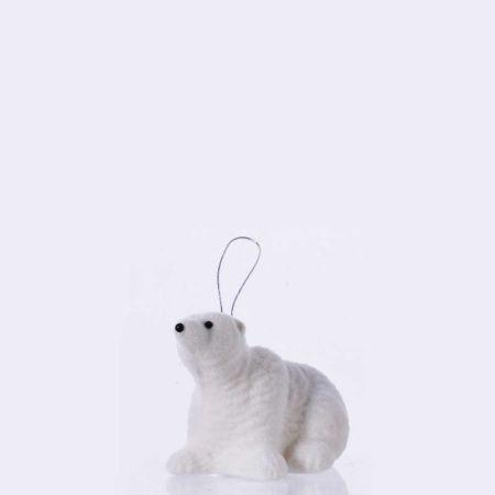 Κρεμαστό στολίδι - Πολική αρκούδα (Σχέδιο 03) 13cm