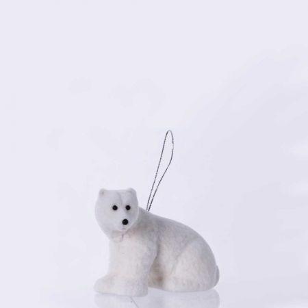 Κρεμαστό στολίδι - Πολική αρκούδα (Σχέδιο 04) 12cm