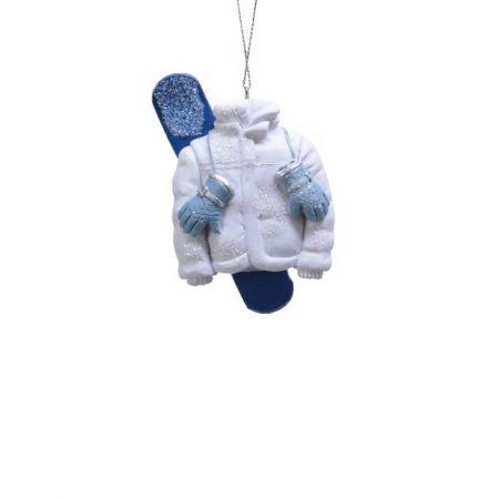 Κρεμαστό στολίδι - Πέδιλα σκι και μπουφάν 3x6x8,5cm