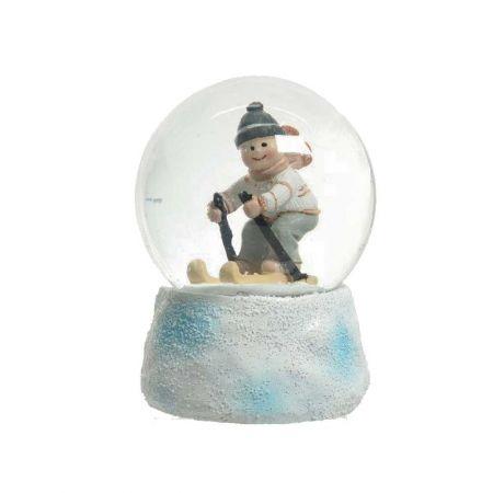 Χιονόμπαλα - Waterball με αγόρι σε σκι 10x14,5cm