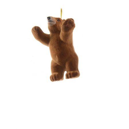 Κρεμαστό στολίδι - Καφέ αρκούδα (Σχέδιο 01) 8cm
