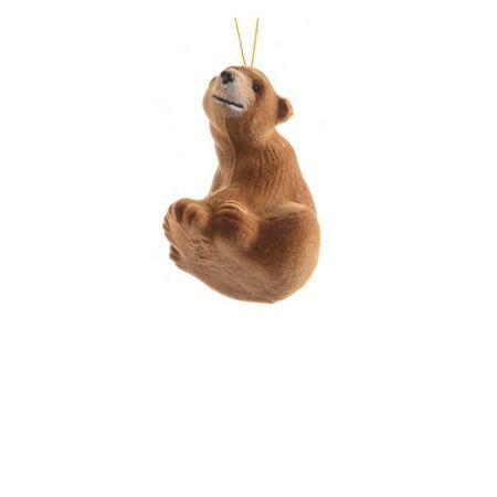 Κρεμαστό στολίδι - Καφέ αρκούδα (Σχέδιο 02) 8cm