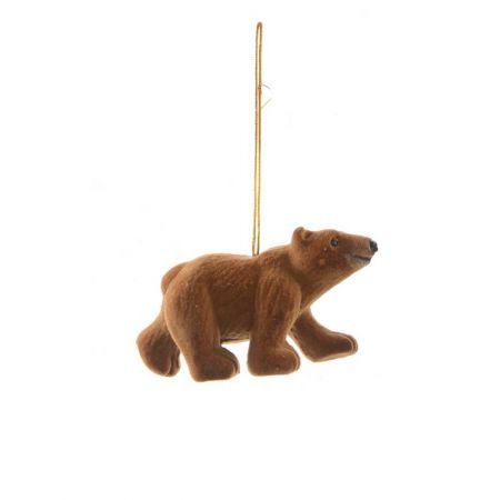 Κρεμαστό στολίδι - Καφέ αρκούδα (Σχέδιο 03) 9cm