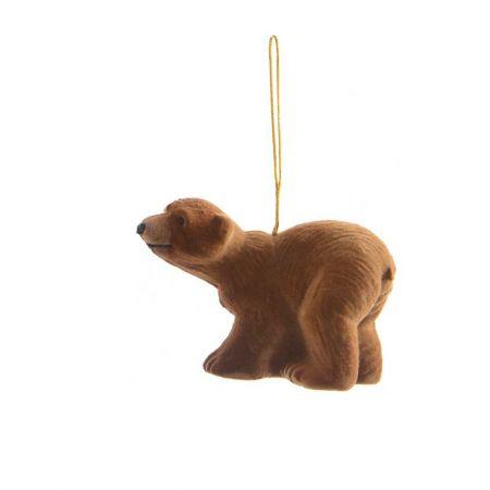 Κρεμαστό στολίδι - Καφέ αρκούδα (Σχέδιο 04) 7cm