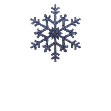 Σετ 2τχ Κρεμαστό στολίδι χιονονιφάδα Μπλε (Σχέδιο 02) 12cm