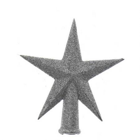 Κορυφή Χριστουγεννιάτικου δέντρου αστέρι Ασημί 12x13cm