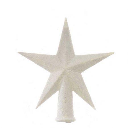 Κορυφή Χριστουγεννιάτικου δέντρου αστέρι Λευκό 12x13cm