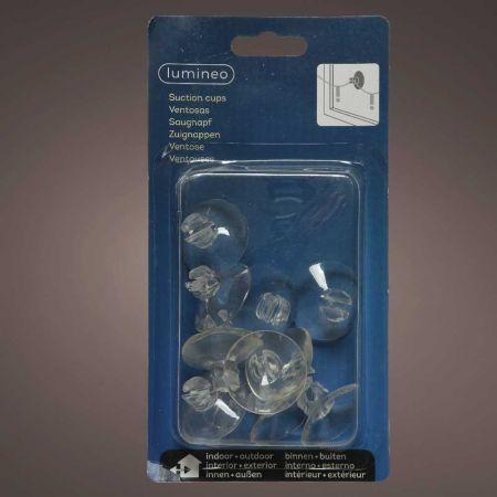 Σετ 12τχ Βεντουζάκια για τζάμι με εγκοπή για καλώδιο Διάφανα 3,5cm