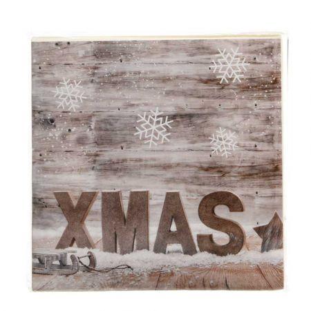 Σετ 20τχ Χριστουγεννιάτικες Χαρτοπετσέτες XMAS 16,5x16,5cm