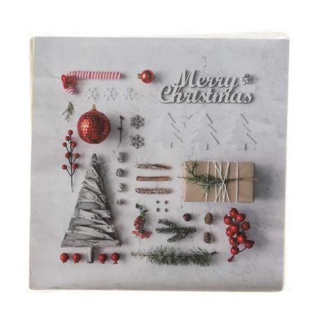 Σετ 20τχ Χριστουγεννιάτικες Χαρτοπετσέτες Merry Christmas 16,5x16,5cm