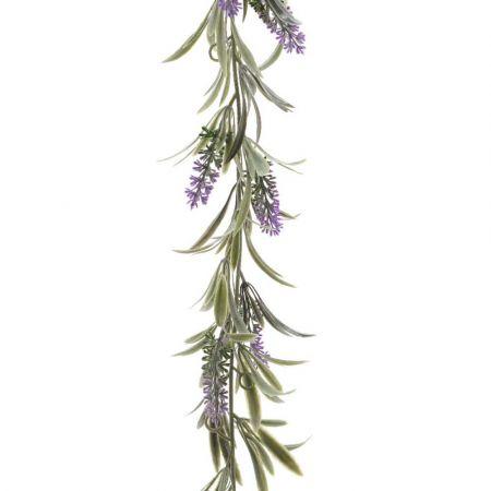 Ανθισμένη γιρλάντα με άνθη λεβάντας Μωβ 180cm