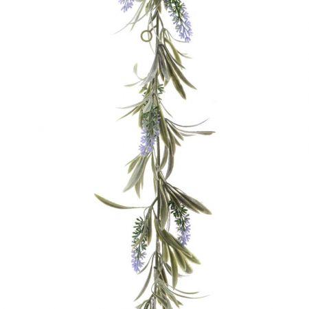 Ανθισμένη γιρλάντα με άνθη λεβάντας Λιλά 180cm