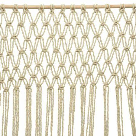 Διακοσμητική κουρτίνα macrame βαμβακερή 90x200cm