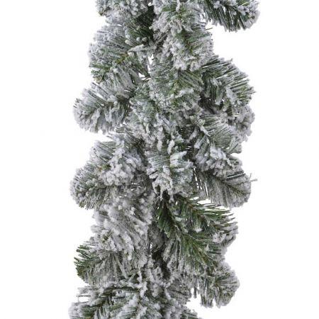 Διακοσμητική Χριστουγεννιάτικη γιρλάντα χιονισμένη 25x270cm