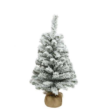 Χριστουγεννιάτικο δεντράκι χιονισμένο με βάση τσουβάλι 41x75cm