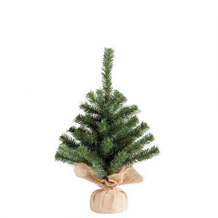 Χριστουγεννιάτικο δεντράκι με βάση τσουβάλι 30x45cm