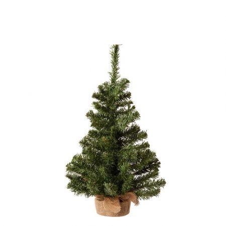 Χριστουγεννιάτικο δεντράκι με βάση τσουβάλι 35x60cm