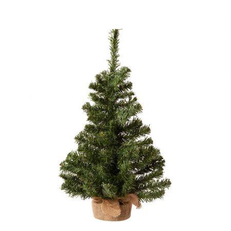 Χριστουγεννιάτικο δεντράκι με βάση τσουβάλι 41x75cm