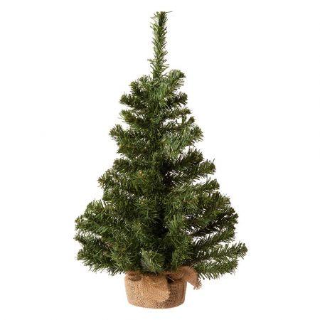 Χριστουγεννιάτικο δεντράκι με βάση τσουβάλι 46x90cm