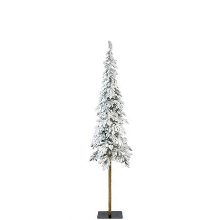 Χριστουγεννιάτικο δέντρο Χιονισμένο με ψηλό κορμό Alpine - Plastic PE 180cm