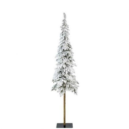 Χριστουγεννιάτικο δέντρο Χιονισμένο με ψηλό κορμό Alpine - Plastic PE 210cm