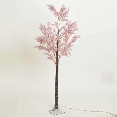 Φωτιζόμενο δέντρο Αμυγδαλιά 270LED IP44 Ροζ / Θερμό Λευκό LED 210cm