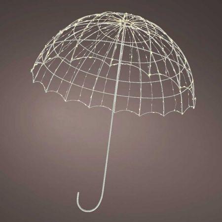 Φωτιζόμενη ομπρέλα 360microLED IP44 Θερμό Λευκό LED 69x82cm