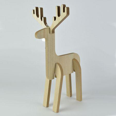Διακοσμητικό ξύλινο ελαφάκι 40cm