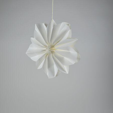 Άνθος λουλουδιού-Χάρτινο 30cm, λευκό