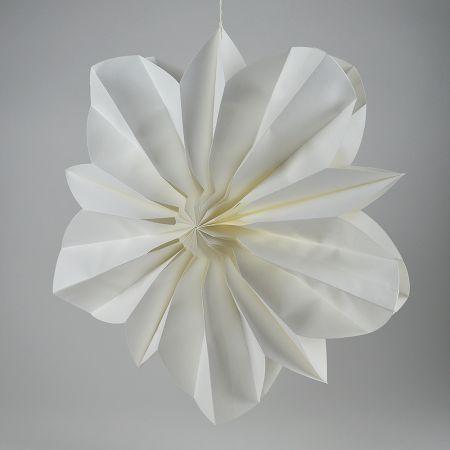 Διακοσμητικό χάρτινο άνθος λουλουδιού Λευκό 50cm